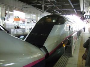 秋田新幹線こまち号E3系連結部