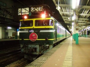 寝台特急トワイライトエクスプレス・長岡駅にて