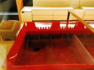 足湯とソファベンチ