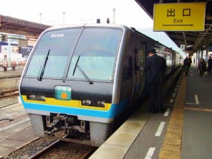 特急宇和海号・松山駅の発車ホーム